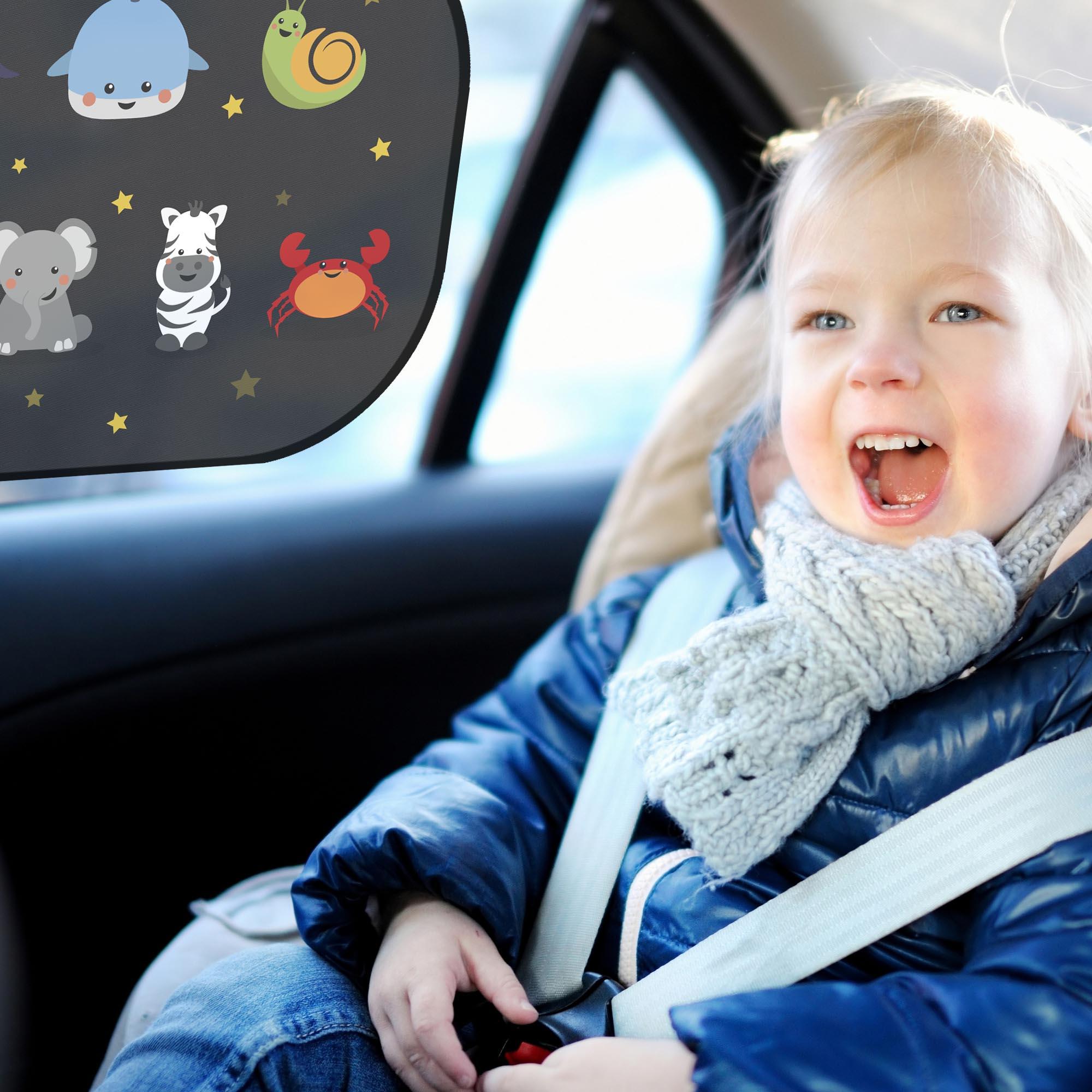 I Sonnen... Sonnenschutz für Kinder 2 Stück Avantina® Auto Sonnenschutz Baby