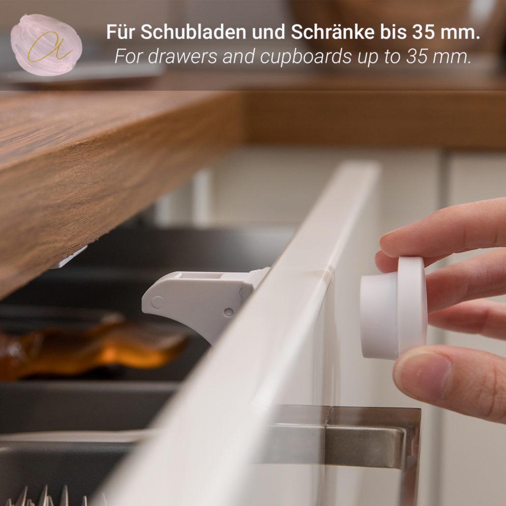 1-20 Kindersicherung Kinderschutz Schloss Tür Schrank Schublade Kühlschrank